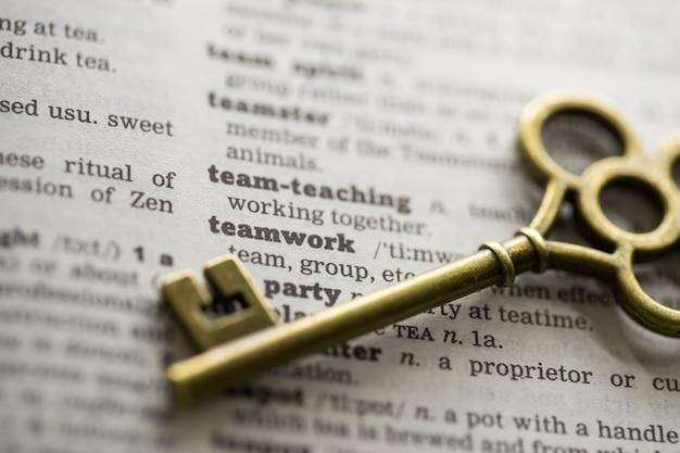 Chave do conceito de negócio para o trabalho em equipe