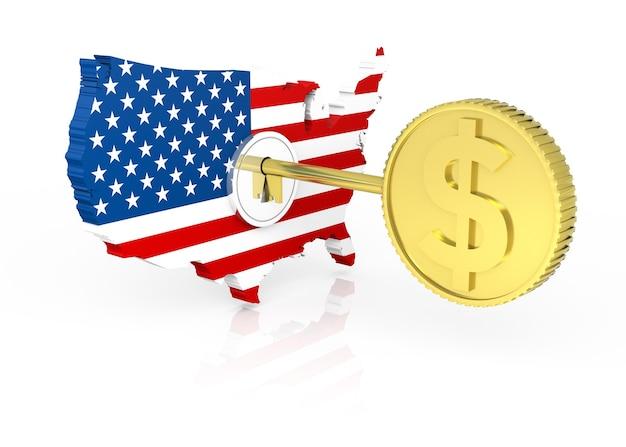 Chave do dólar dos estados unidos