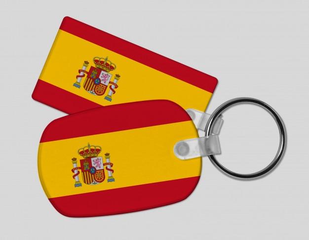 Chaveiro de bandeira de espanha - férias e férias