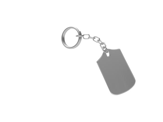 Chaveiro de metal curvo vazio