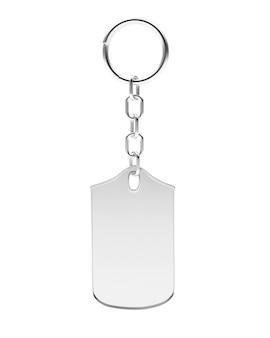 Chaveiro de prata ou metal em branco