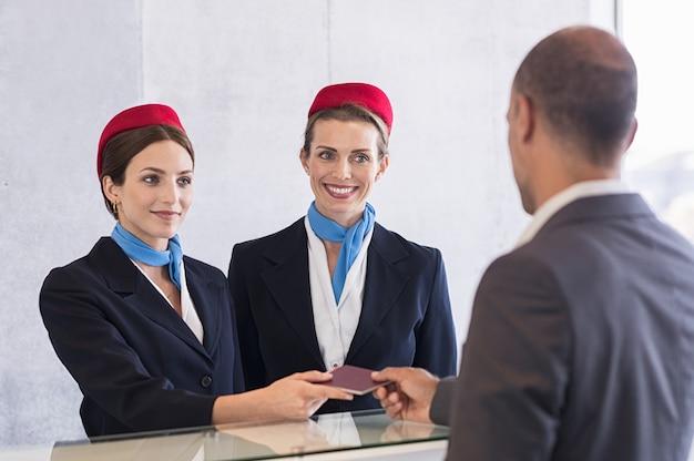 Check-in no aeroporto