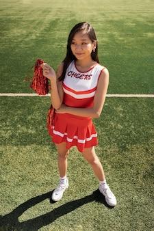 Cheerleader em campo