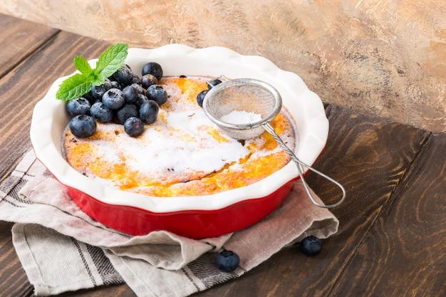 Cheesecake caseiro delicioso