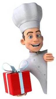 Chef divertido - personagem 3d