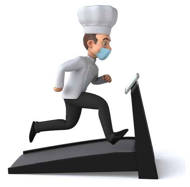 Chef personagem de desenho animado com uma máscara