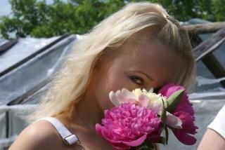 Cheirar as flores, tímido