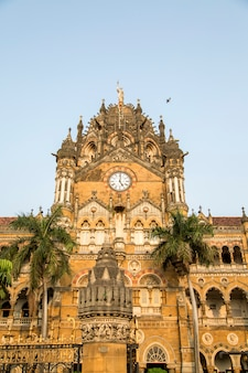 Chhatrapati shivaji terminus em mumbai, índia.