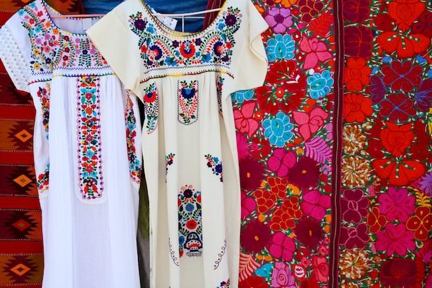 Chiapas maia vestido bordado e serape