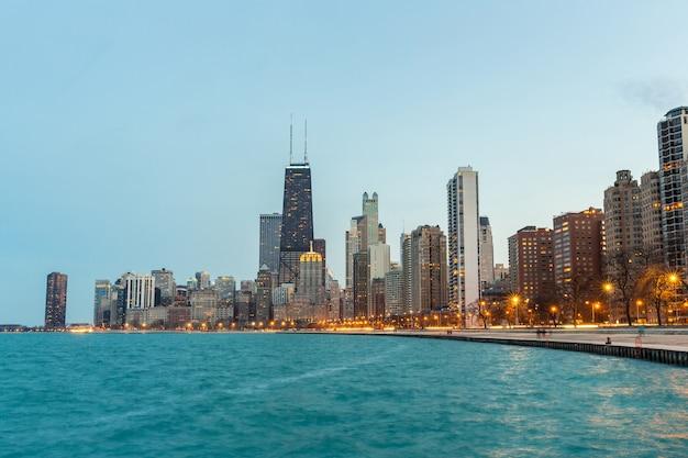 Chicago ao entardecer