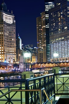 Chicago colorful night