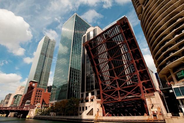 Chicago, dearborn, rua, ponte levadiça