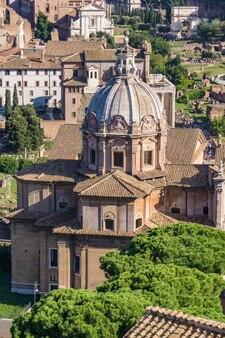 Chiesa dei santi luca e martina em roma, itália