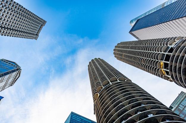 Chigaco edifícios vista em um dia ensolarado