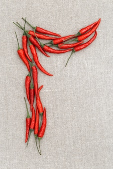 Chili peper letter r