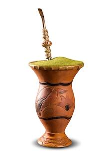 Chimarrao, chá quente tradicional de mate. bebida do sul do brasil. também conhecido como companheiro.