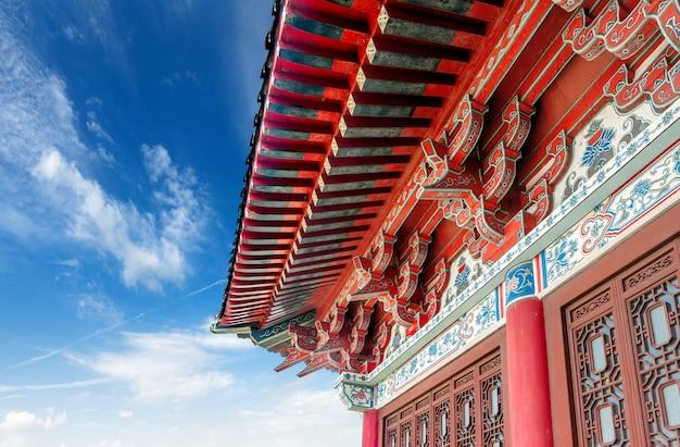 China antigo edifício local