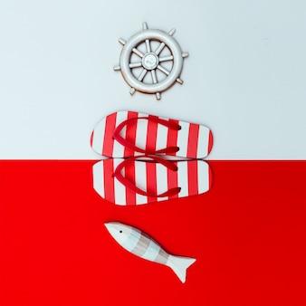 Chinelos estilo mar design minimalista