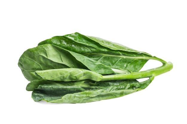 Chinese kale vegetal isolado no fundo branco.