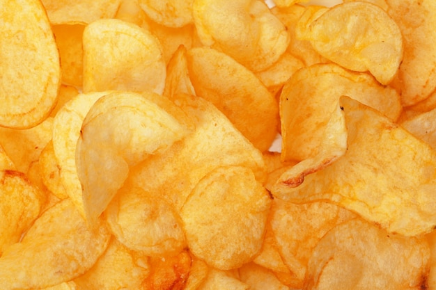 Chips close-up