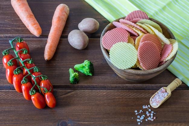 Chips de vegetais saudáveis