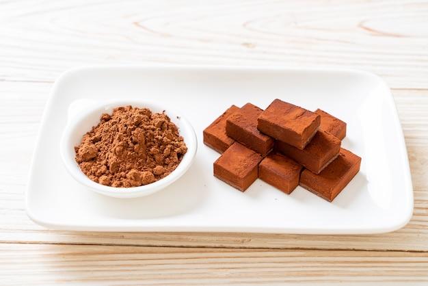 Chocolate fresco e macio