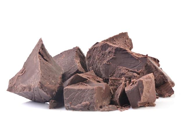 Chocolate isolado em um fundo branco