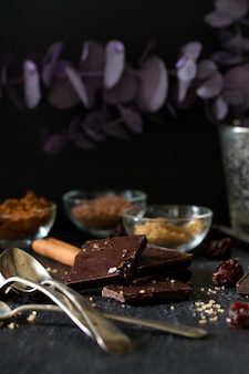 Chocolate no escuro