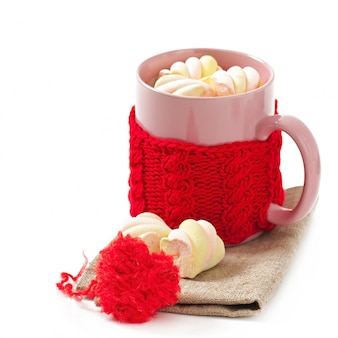 Chocolate quente com marshmallows