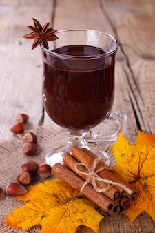 Chocolate quente com marshmallows