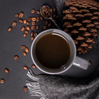 Chocolate quente em close-up