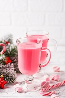 Chocolate quente rubi ou cacau rosa