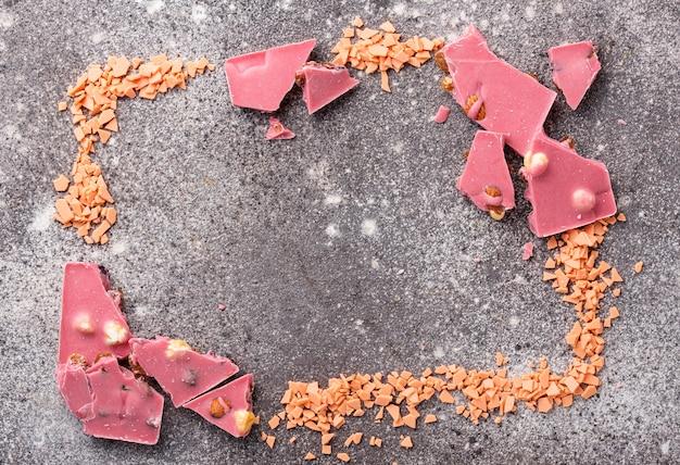Chocolate rosa ou rubi