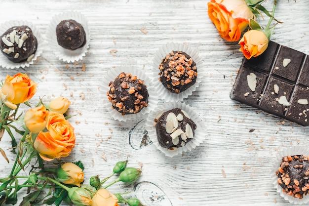 Chocolates em uma cesta