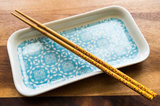 Chopsticks naturais de bambu