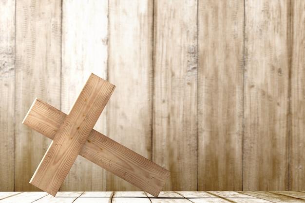 Christian cross em cima da mesa