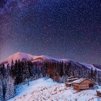 Chuva de meteoros de inverno fantástica