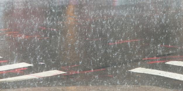 Chuva, queda, ligado, a, asfalto, de, rua, manhattan, cidade nova iorque, estado nova iorque, eua