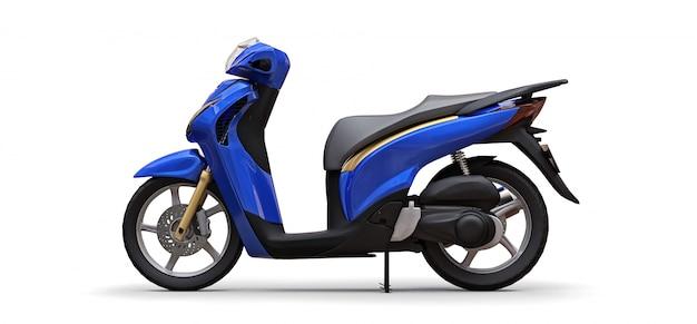Ciclomotor azul urbano moderno