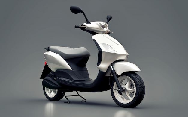 Ciclomotor branco urbano moderno