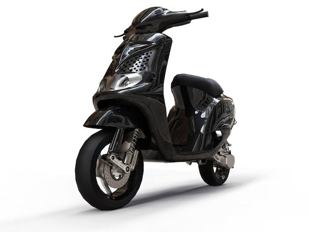 Ciclomotor preto urbano moderno