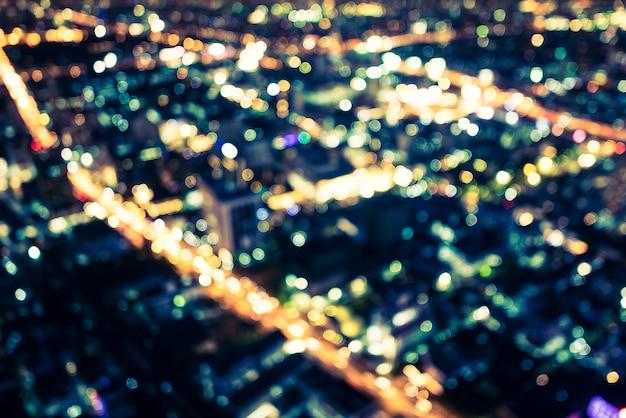 Cidade abstrata bokeh luz