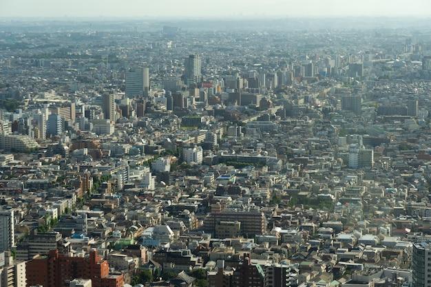 Cidade aérea de tóquio.