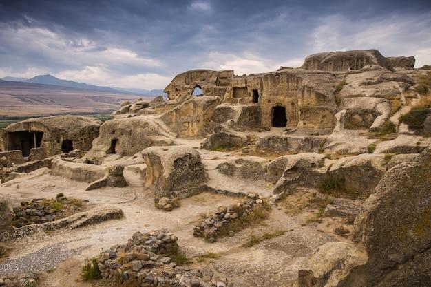 Cidade antiga da caverna uplistsikhe, geórgia