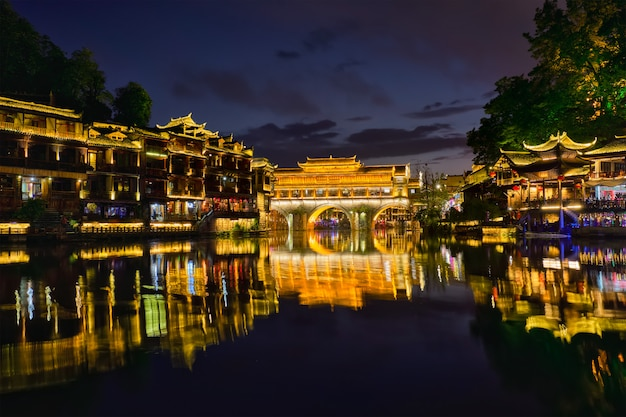 Cidade antiga de feng huang cidade antiga de phoenix, china