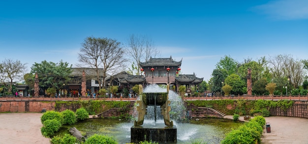 Cidade antiga de huanglongxi, chengdu, sichuan