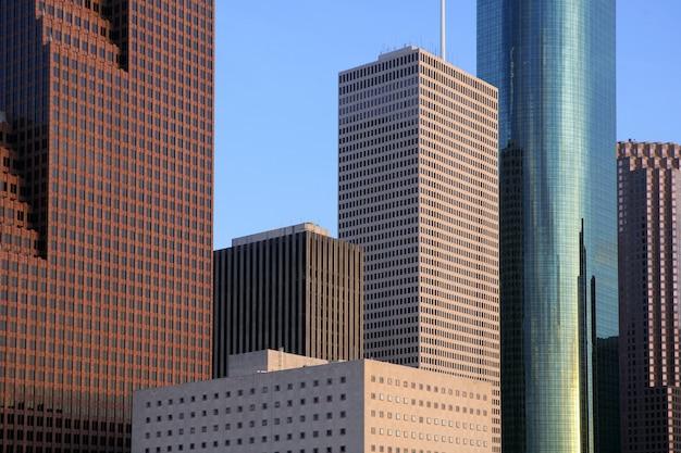 Cidade arranha-céus no centro edifícios urbanos vista