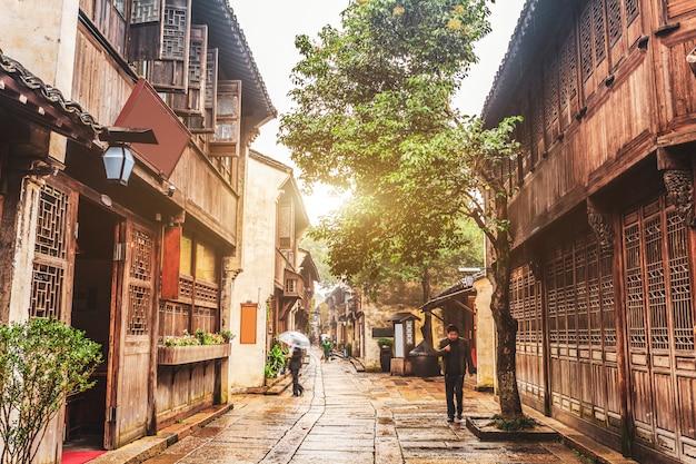 Cidade da água de wu zhen na china