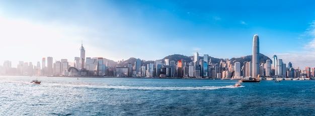 Cidade de hong kong e arquitetura moderna