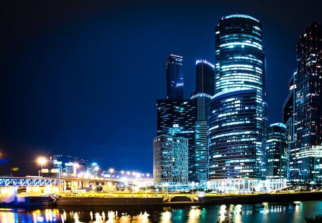 Cidade de moscou à noite